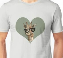 Ironic Lovely Lashes Giraffe Unisex T-Shirt