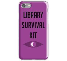 "Welcome To Night Vale ""Library Survival Kit"" iPhone Case/Skin"