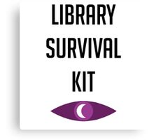 """Welcome To Night Vale """"Library Survival Kit"""" Canvas Print"""