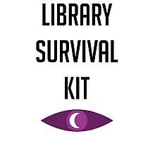 "Welcome To Night Vale ""Library Survival Kit"" Photographic Print"