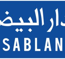 Casablanca, Road Sign, Morocco Sticker