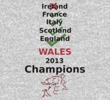 Wales 2013 Champions One Piece - Long Sleeve