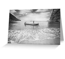 Caribbean fishermen Sugar Beach St Lucia Greeting Card