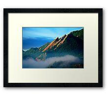 Flatirons And Fog Framed Print