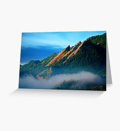 Flatirons And Fog Greeting Card