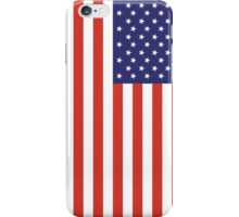 American Flag, Portrait, USA, Stars & Stripes, America, Pure & simple iPhone Case/Skin