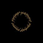Lord of the Rings - The One Ring (Gold on Black) by blackstarshop
