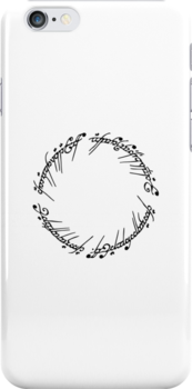 Lord of the Rings - The One Ring (White) by blackstarshop