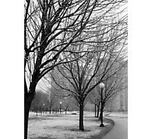 Snowy afternoon in New York City Photographic Print