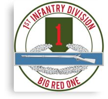1st Infantry CIB Big Red One Canvas Print