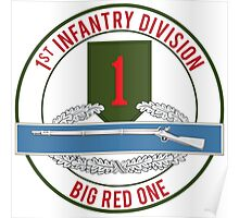 1st Infantry CIB Big Red One Poster