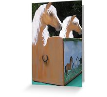 Realistic Pony Toy Box Greeting Card