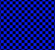 Checkerboard - Blue by chrishull