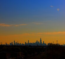 A Distant Chicago City Skyline by Adam Kuehl