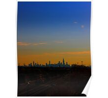 A Distant Chicago City Skyline Poster