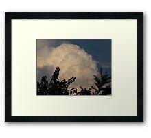 Accumulating cumulus Framed Print