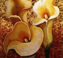 Golden Lilies by WishesandWhims