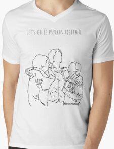 Psychos Mens V-Neck T-Shirt