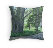 Everglades pathway Throw Pillow
