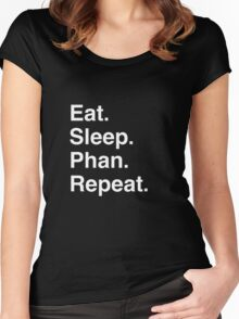 Eat. Sleep. Phan. Repeat. Women's Fitted Scoop T-Shirt