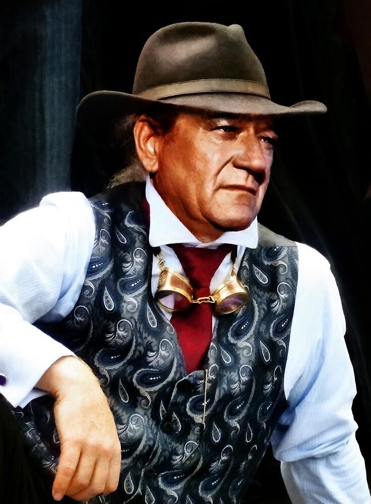 John Wayne in a silk waistcoat by PictureNZ