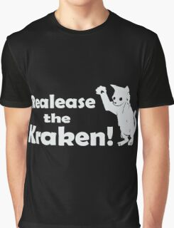 Release The Kraken Kitten funny nerd geek geeky Graphic T-Shirt