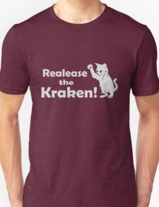 Release The Kraken Kitten funny nerd geek geeky Unisex T-Shirt