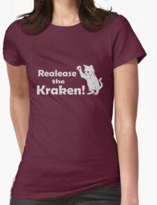 Release The Kraken Kitten funny nerd geek geeky Womens Fitted T-Shirt