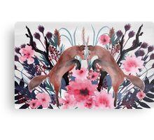 Foxy Field and Flowers Metal Print
