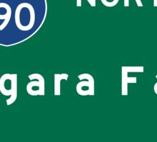 Niagara Falls, Road Sign, New York Sticker