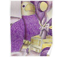 Shades Of Purple Still Life Poster