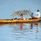 Fishing Boat on the Mekong by Laurel Talabere