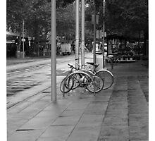 Bicycles on Swanson Photographic Print