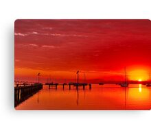 """Hot Autumn Dawn"" Canvas Print"
