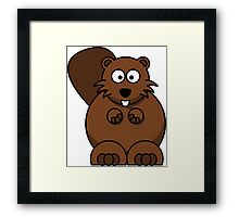 Cute Squirrel Animal stickers & more! Framed Print