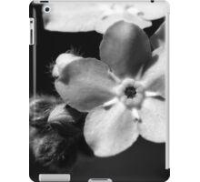 Forget-Me-Nots 1 B&W iPad Case/Skin