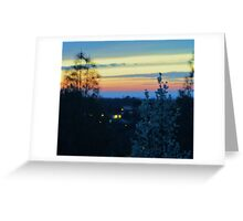 Spring Sunset in the Mountains Greeting Card