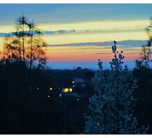 Spring Sunset in the Mountains Photographic Print