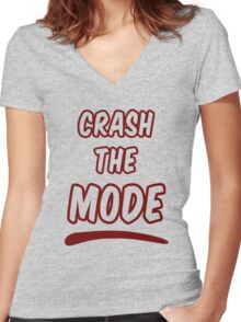 Crash the Mode Women's Fitted V-Neck T-Shirt