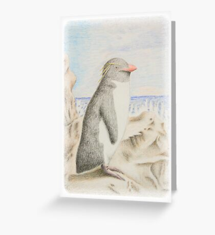 Rockhopper Penguin Greeting Card