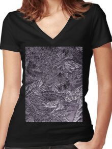 Frost 1 Women's Fitted V-Neck T-Shirt