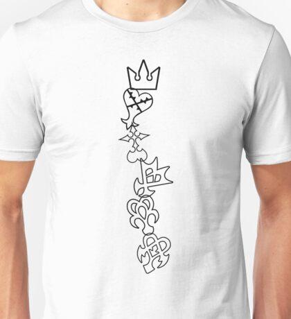 The Symbols of Kingdom Hearts Unisex T-Shirt