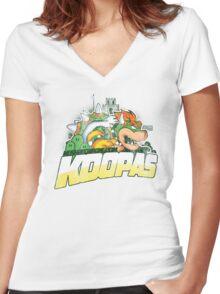 KOOPAS Women's Fitted V-Neck T-Shirt