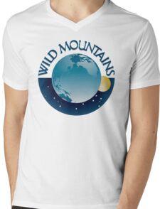 Wild Mountains Logo Mens V-Neck T-Shirt