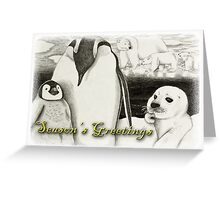 Season's Greetings Arctic Animals Greeting Card