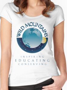 Wild Mountains - Inspiring, Educating, Conserving Women's Fitted Scoop T-Shirt