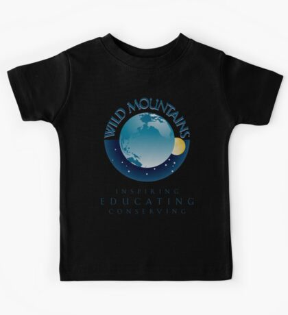 Wild Mountains - Inspiring, Educating, Conserving Kids Tee