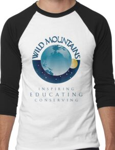 Wild Mountains - Inspiring, Educating, Conserving Men's Baseball ¾ T-Shirt