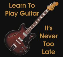 Learn To Play Electric Guitar Kids Tee