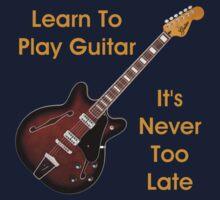 Learn To Play Electric Guitar Kids Tee